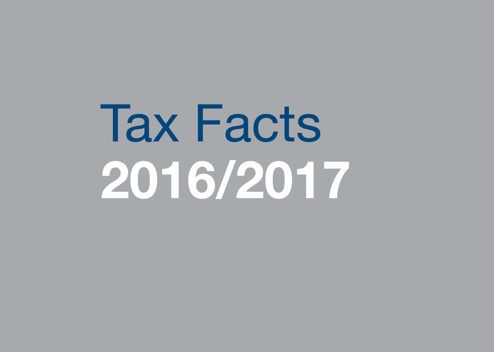 Tax Facts 2016/17